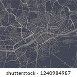 vector map of the city of... | Shutterstock .eps vector #1240984987