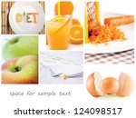 conceptual food collage with... | Shutterstock . vector #124098517