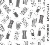 metal springs seamless pattern. ... | Shutterstock .eps vector #1240991161
