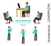 office exercises info of set... | Shutterstock .eps vector #1240991254
