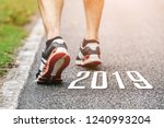 new year 2019 concept.close up... | Shutterstock . vector #1240993204