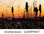 Railroad Tracks At A Major...