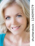 beautiful middle aged woman in...   Shutterstock . vector #124099579
