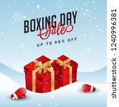 boxing day sale template or... | Shutterstock .eps vector #1240996381
