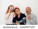 grandmother and grandfather... | Shutterstock . vector #1240997107