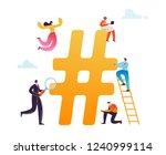 hashtag social media concept....   Shutterstock .eps vector #1240999114