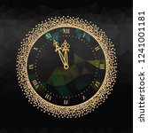 new year's eve clock with roman ... | Shutterstock .eps vector #1241001181