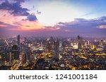 bangkok cityscape at dusk | Shutterstock . vector #1241001184
