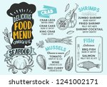 seafood menu template for... | Shutterstock .eps vector #1241002171