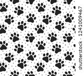 pet paw seamless pattern... | Shutterstock .eps vector #1241009467