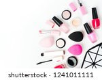 cosmetic bag with beauty... | Shutterstock . vector #1241011111