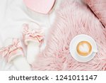 morning concept. a cup of... | Shutterstock . vector #1241011147