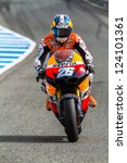 Постер, плакат: MotoGP motorcyclist Dani Pedrosa