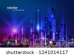 night city background  with... | Shutterstock .eps vector #1241014117