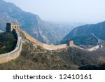 famous great wall at simatai... | Shutterstock . vector #12410161
