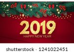 happy new year 2019 greeting... | Shutterstock . vector #1241022451