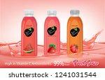 bottle of juice on the juice... | Shutterstock .eps vector #1241031544