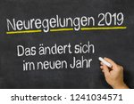 neuregelungen 2019 written on... | Shutterstock . vector #1241034571