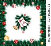 christmas background for... | Shutterstock . vector #1241036731