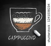 vector sketch of cappuccino... | Shutterstock .eps vector #1241038234