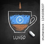 vector sketch of lungo  coffee... | Shutterstock .eps vector #1241038237