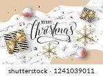 merry christmas text design.... | Shutterstock .eps vector #1241039011