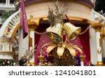 luxury golden christmas bells | Shutterstock . vector #1241041801