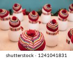 lots of snowmen with white... | Shutterstock . vector #1241041831