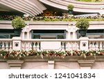 luxury house decorated for... | Shutterstock . vector #1241041834