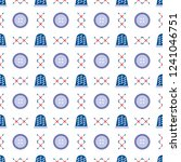 seamless pattern with thimbles... | Shutterstock .eps vector #1241046751
