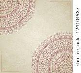 vintage mandala background with ... | Shutterstock .eps vector #124104937