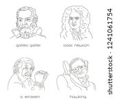 portraits of famous physicists... | Shutterstock .eps vector #1241061754