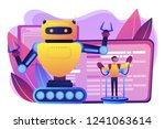 engineer controlling big robot... | Shutterstock .eps vector #1241063614