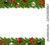 christmas garland isolated... | Shutterstock . vector #1241065867