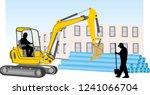 road works undertaking for the... | Shutterstock .eps vector #1241066704