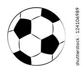 black outline vector football... | Shutterstock .eps vector #124106989