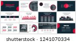 business presentation slides...   Shutterstock .eps vector #1241070334
