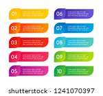 colorful menu steps  app... | Shutterstock .eps vector #1241070397