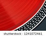 vinyl record closeup. a ray of... | Shutterstock . vector #1241072461