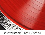 vinyl record closeup. a ray of... | Shutterstock . vector #1241072464