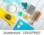 dishwashing products on white... | Shutterstock . vector #1241079007