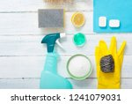 dishwashing products on white... | Shutterstock . vector #1241079031