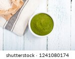 uncooked taglatelle pasta and... | Shutterstock . vector #1241080174