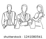 continuous line drawing of... | Shutterstock .eps vector #1241080561