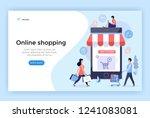 online shopping concept... | Shutterstock .eps vector #1241083081