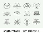 set of vintage camping outdoor... | Shutterstock .eps vector #1241084011
