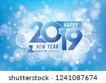 happy new year 2019 design with ... | Shutterstock .eps vector #1241087674
