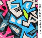 industrial graffiti seamless...   Shutterstock .eps vector #124109287