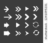 set of black arrows symbol | Shutterstock .eps vector #1241095231