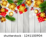 christmas template with... | Shutterstock . vector #1241100904